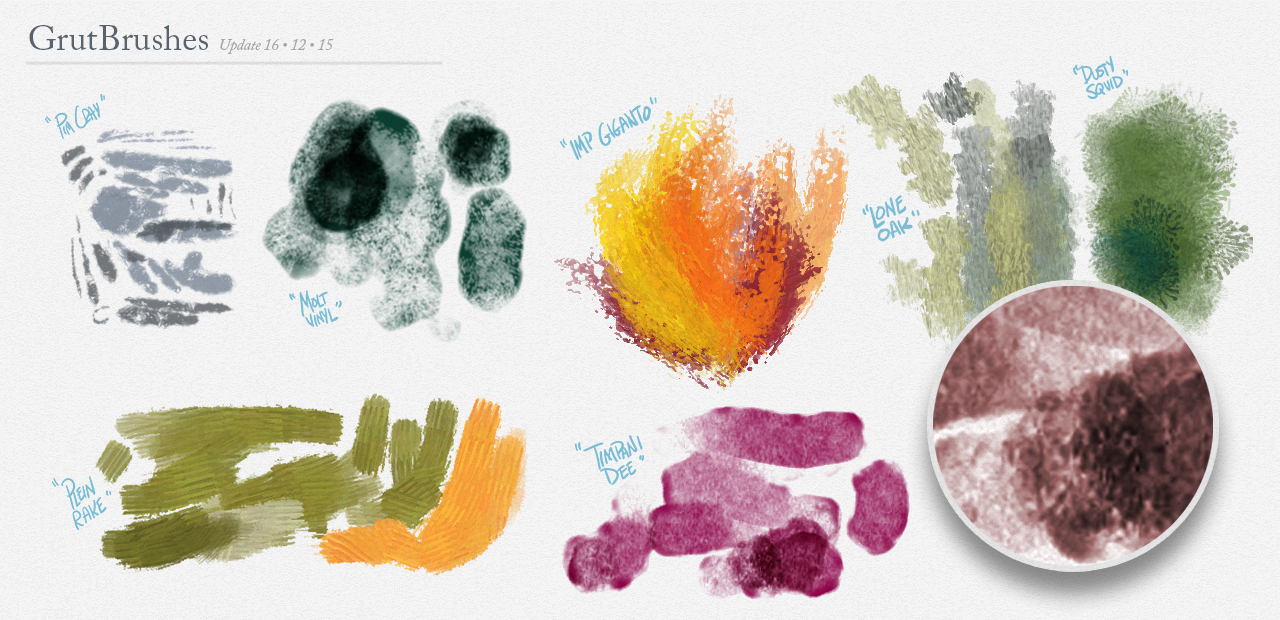 New Photoshop Brushes added to the Shop in December