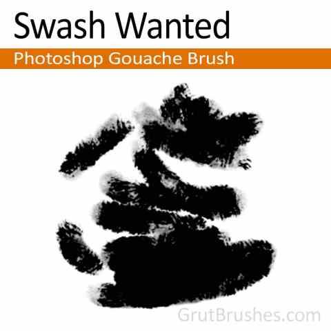 'Swash Wanted' Photoshop Gouache Brush