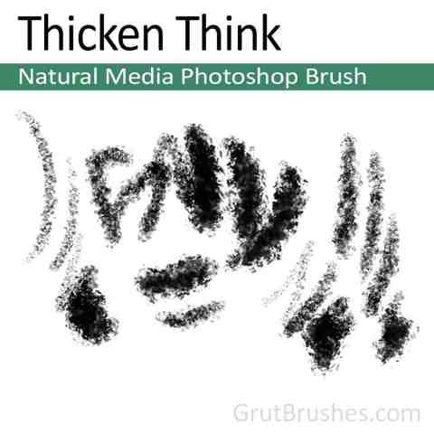 'Thicken Think' Natural Media Photoshop Brush