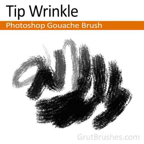 Photoshop Gouache Brush 'Tip Wrinkle'