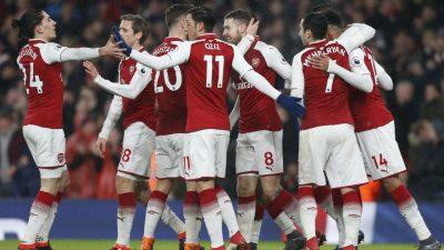 Aubameyang bags debut goal, Ramsey treble as Arsenal crush Everton | The Guardian Nigeria ...