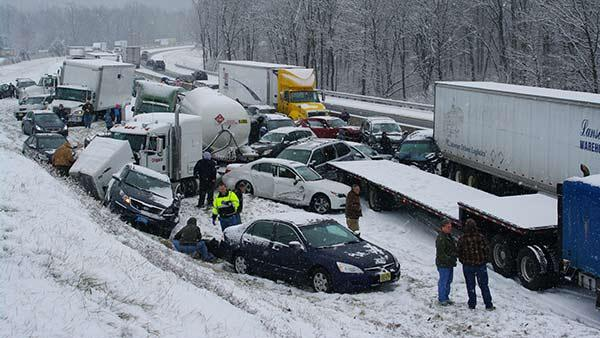 Pennsylvania Turnpike Suffers 100 Car Accident With at Least 30 Injured