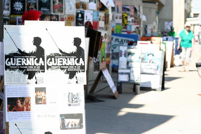 Guernica tour poster, Winnipeg, 2012. Courtesy of Perry Gratton & Erika Luckert