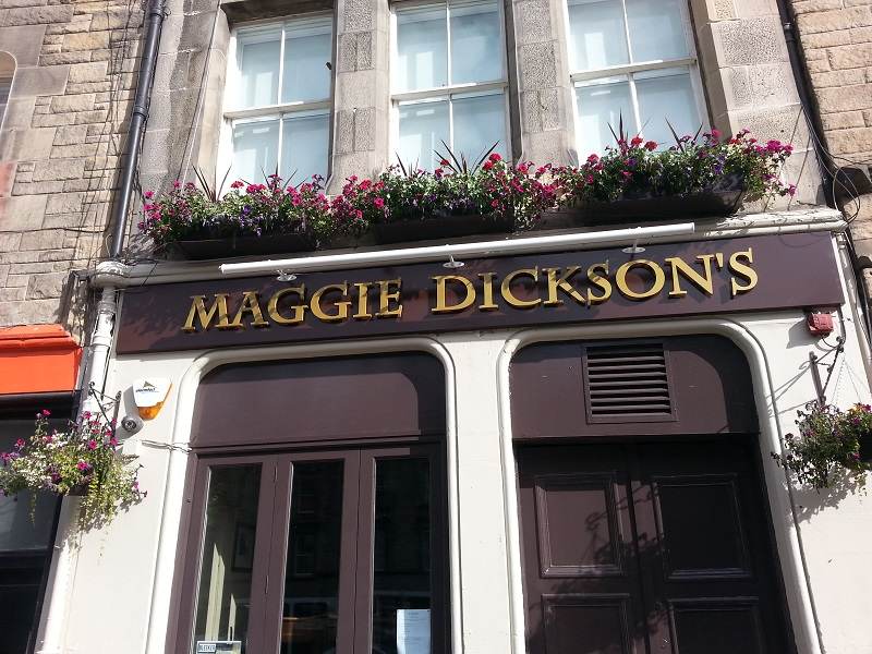 Maggie Dicksons Grass Market Edinburgh