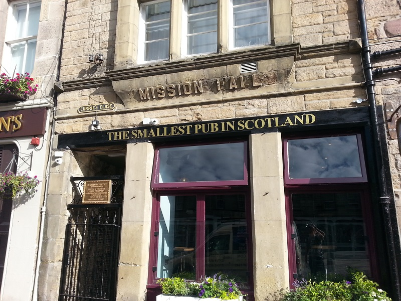 Smallest Pub in Scotland, Grass Market Edinburgh