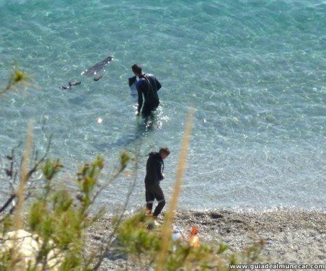 Snorkel en aguas transparentes del Mediterráneo, Almuñécar.