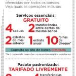 Serviços essenciais: conta bancária gratuita