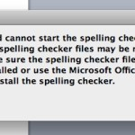 Spell Checker Issue in Word [Mac versions of Office 2011]
