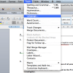 FAQ: How to I change the default language in Word for Mac? [Word 2011]