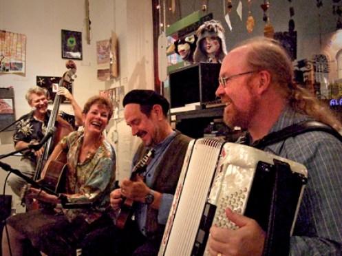 Euphonia Live at Julie's. L to R: Chuck Ervin, Sylvia Herold, Paul Kotapish, Charlie Hancock