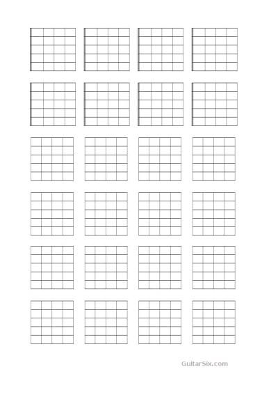Guitar Chord Chart Paper