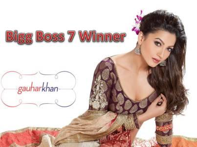Bigg Boss 7 Winner Gauhar Khan