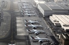 An aerial view shows Dubai international