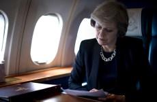 Theresa May plane