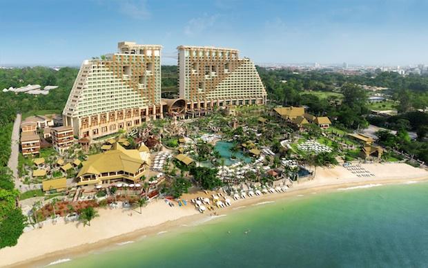 The Centara Grand Mirage Beach Resort in Pattaya, Thailand