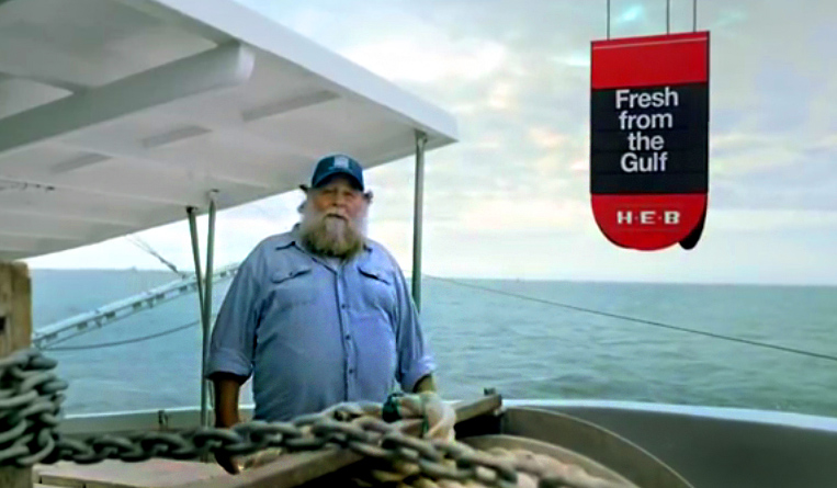 Galveston Fisherman Stars In H-E-B Grocery Seafood Commercial