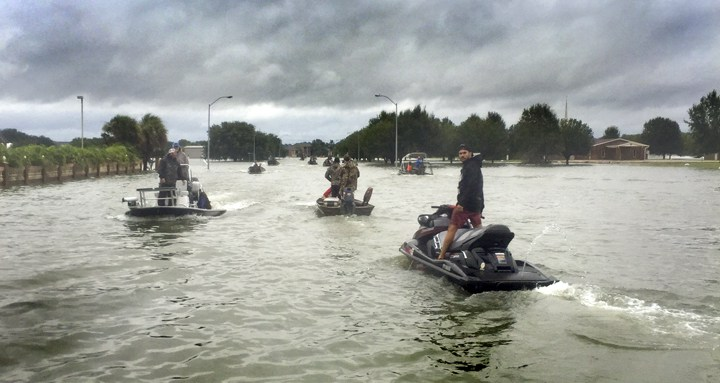 Gulf Oysterman Raz Halili Displays Heroics During Hurricane Harvey Flooding