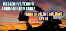"""GÜMÜŞHANE MESLEKİ ve TEKNİK ANADOLU LİSESİ'NDE DE """"MADENCİLİK BÖLÜMÜ"""" AÇILMALI"""