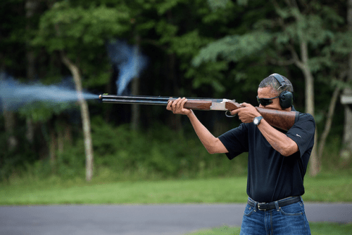 Official Obama Skeet Shooting Photo