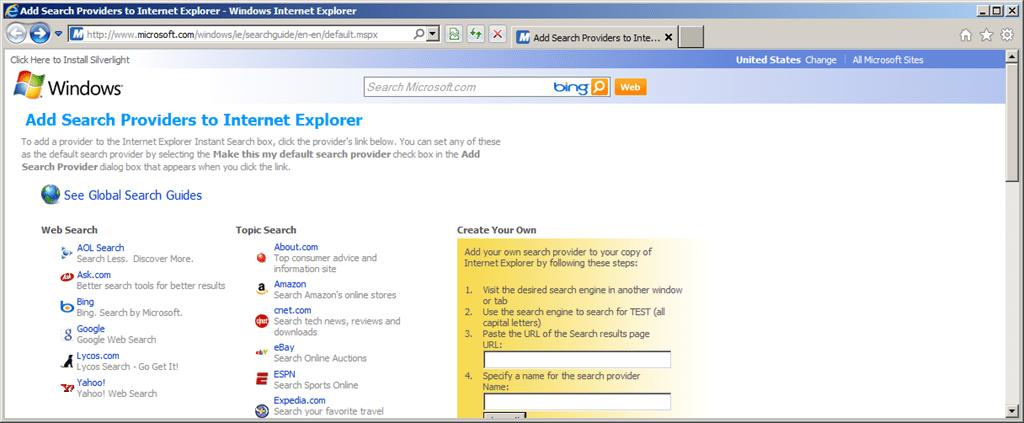 how to make google default search internet explorer