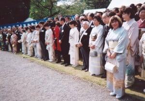 園遊会和服
