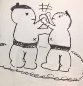 乃木坂佐藤楓イラスト相撲