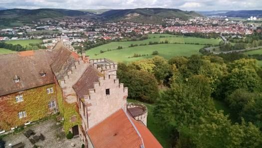 Panoramablick vom Schloss Saaleck