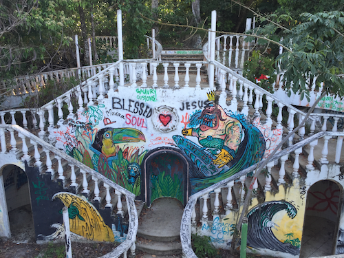 Ruins of a party venue in Costa Rica