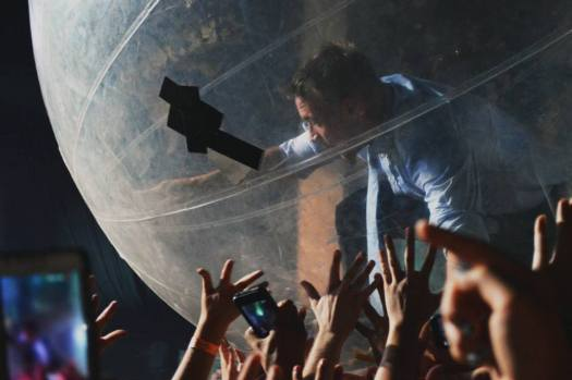 Diplo riding the crowd during Major Lazer finale. Photo Credit: Lotanna Obodozie