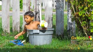 Narendra loves water.
