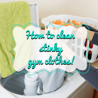 How to clean stinky workout clothes