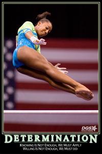 determination gymnastics quote