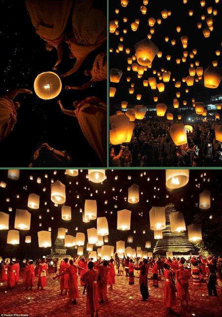 Lantern Festival, Chaing Mai, Thailand