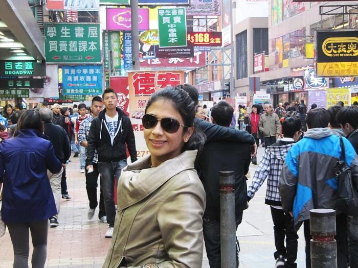 Me on Tung Choi Street, Hong Kong