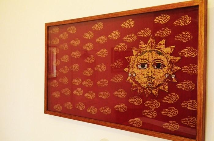Gorgeous Block Printed Sun Painting