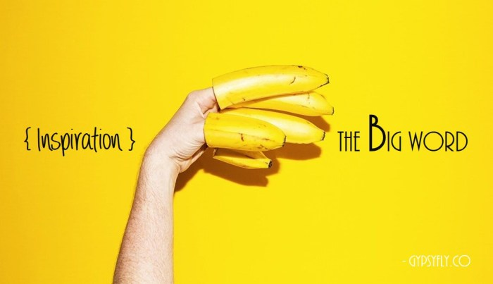 Inspiration - The Big Word | Project I