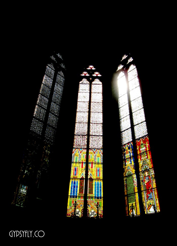 Stained Glass Clerestory Windows, Cologne Cathedral | Gothic Architecture | pic by Rakshita Kapoor Gypsyfly.co