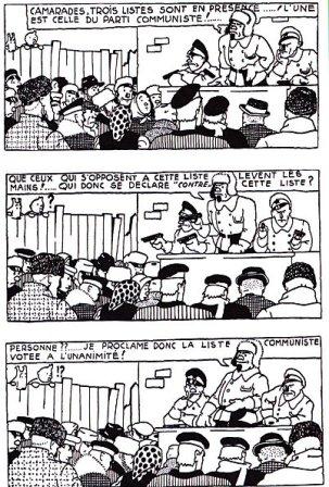Tintin : le vote chez les bolcheviks