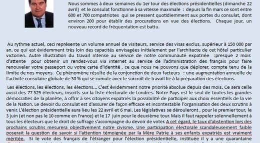 Lettre du Consulat Général Français à Londres