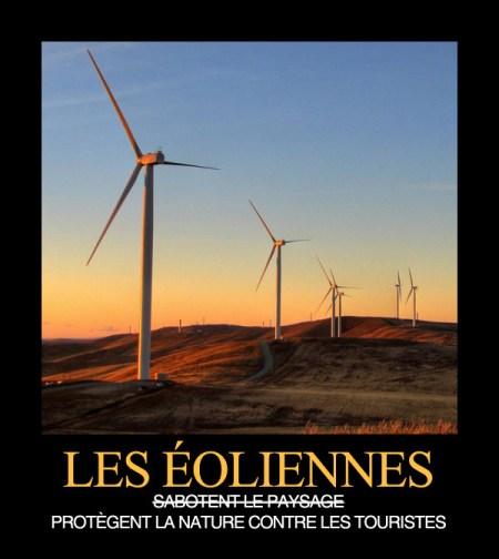 les éoliennes sabotent le paysage