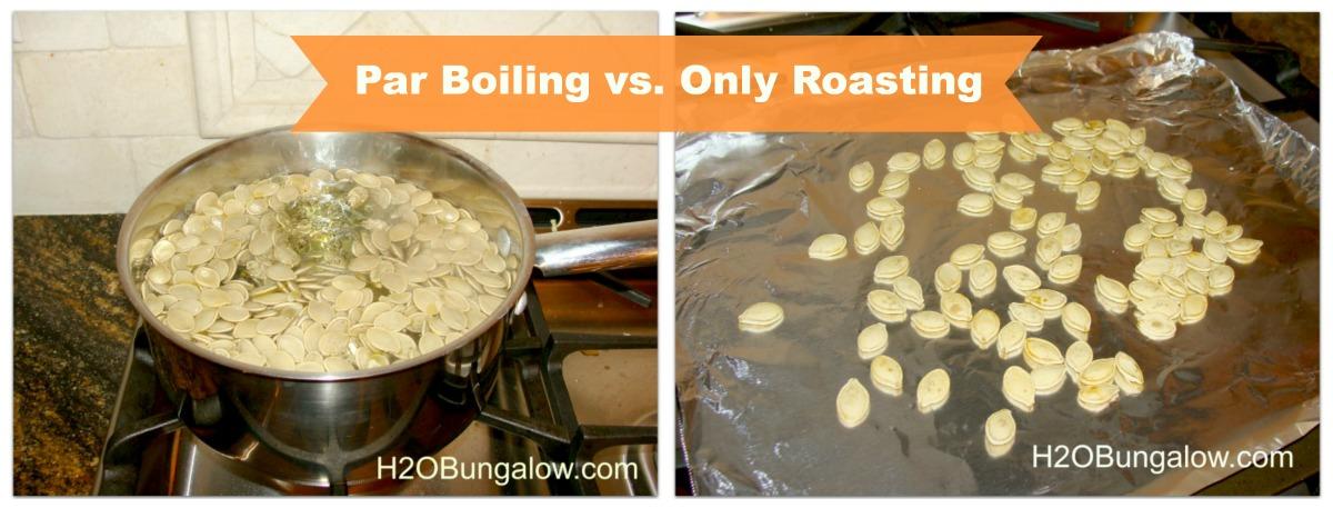 Boil vs roasted pumpkin seeds