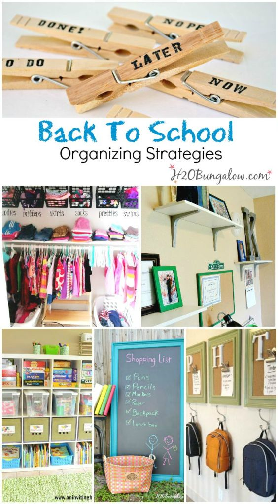 Back To School Organizing Ideas