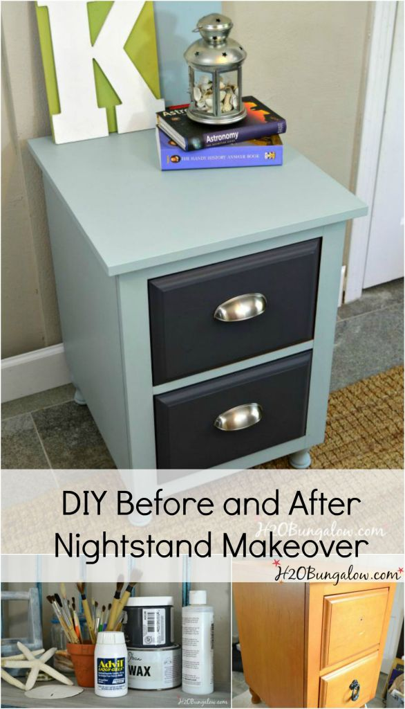 Diy Before And After Nightstand Makeover