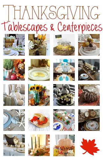 19 fabulous Thanksgiving tablescapes and centerpieces to inspire and start the creative process for your holiday table this season H2OBungalow.com