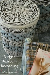 DIY budget bedroom decorating part 2 of a series on how to refresh a bedroom with a small budget. www.H2OBungalow