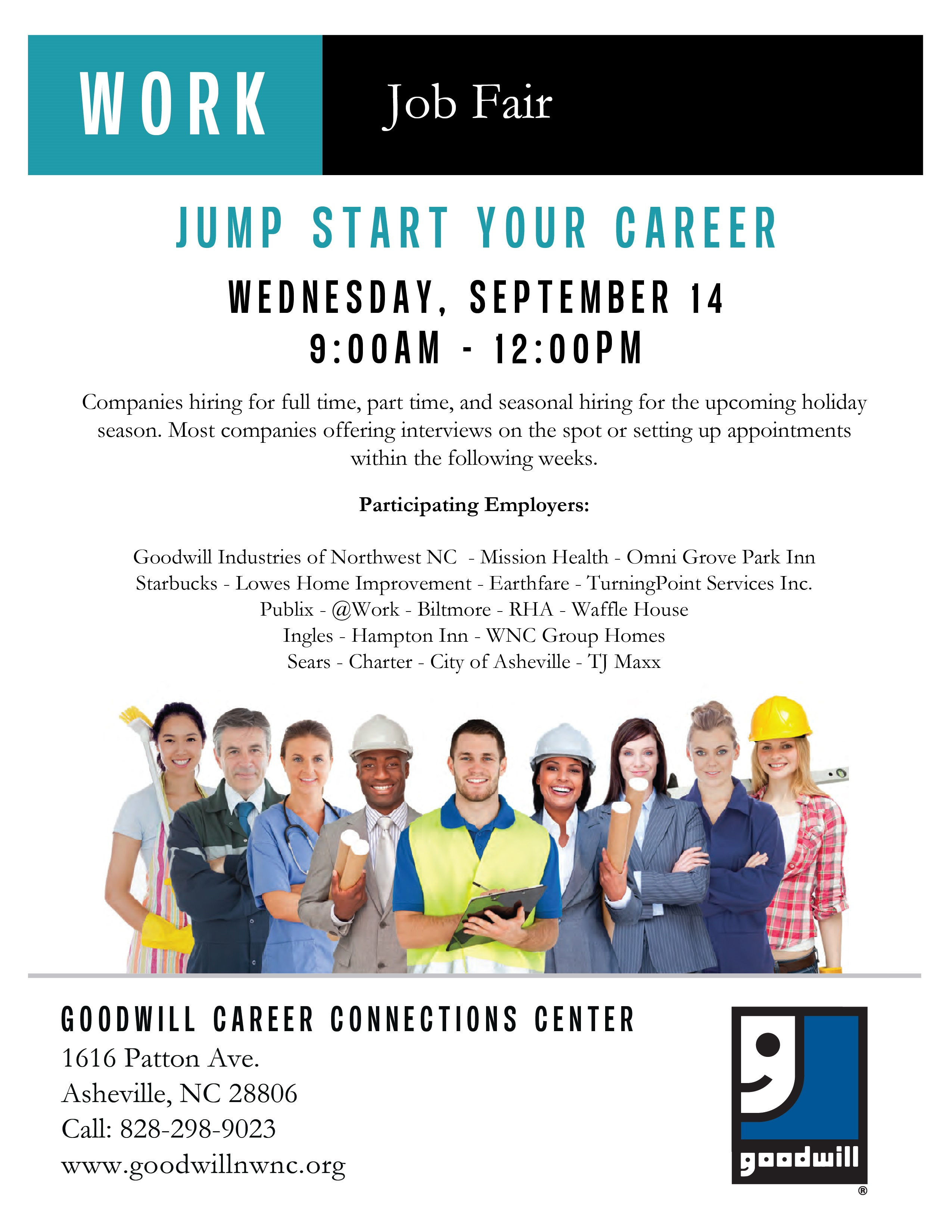 goodwill career connections center hosting a career fair asheville job fair 14 01 002