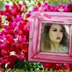 Hermoso fotomontaje de cuadro con flores