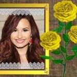 Fotomontaje con delicadas flores amarillas