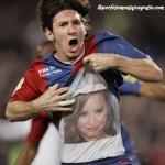 Divertido fotomontaje de Messi portando tu foto