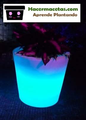 macetas con luces hechas en casa